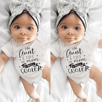 Baby My Aunt Is Like My Mom But Cooler Onesuit.