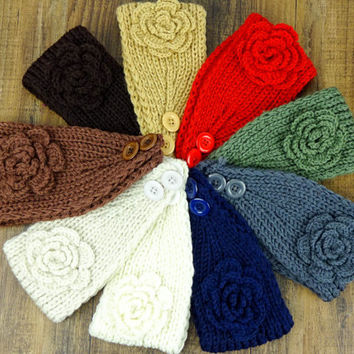 Knit Headband Beige Turban Women's Accessories Knit Earwarmers Beige Knitted Headband Hair Accessories knit turban crochet flower headband