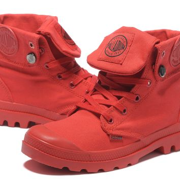 Palladium Baggy Women Turn High Boots Red