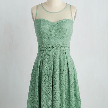 Chantilly Sweetheart Dress in Sage | Mod Retro Vintage Dresses | ModCloth.com