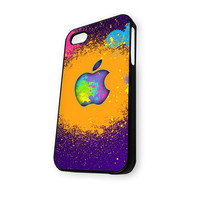 Apple Colorful Paint iPhone 4/4S Case