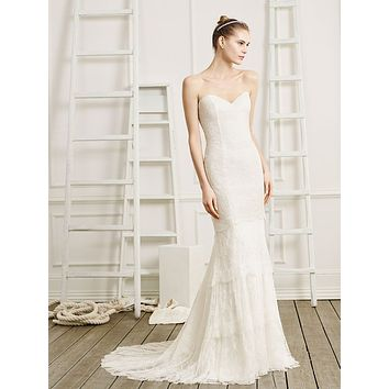 Beloved by Casablanca Bridal Desire Strapless Lace Fit & Flare Wedding Dress