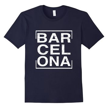 Cool Distressed Barcelona Spain Travel T-shirt