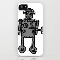 Vintage Robot iPhone & iPod Case by lush tart