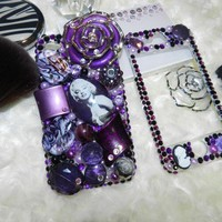 Marilyn Monroe Inspired Bling Cover Iphone 4G-5 Crystals Classy Beads