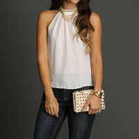 Sale-ivory Multi Chain Neck Top