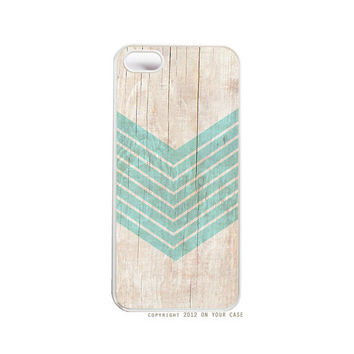 iPhone 5 Case Wood Geometric Aquamarine