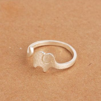Shiny Stylish Jewelry Gift New Arrival Korean Accessory Silver Simple Design Lovely Ring [11213291924]