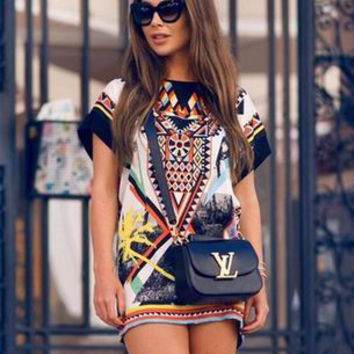 Multi-color Mini Dress