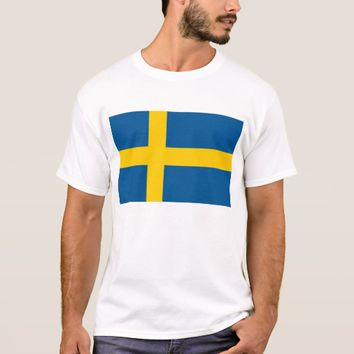 T Shirt with Flag of Sweden