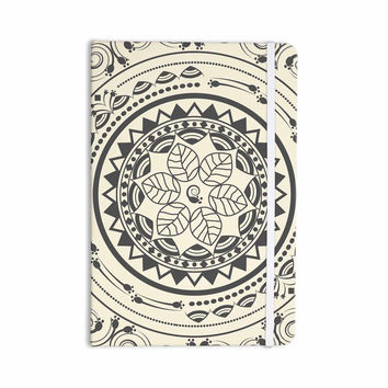 "Famenxt ""Boho Folk Mandala"" Beige Black Digital Everything Notebook"