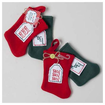 Christmas Felt Gift Stocking - 7""