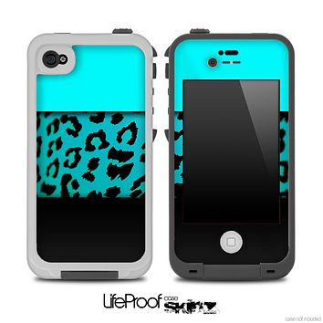 Three-Toned Turquoise Vector Cheetah Skin for the iPhone 5 or 4/4s LifeProof Case