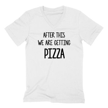 After this we are getting  pizza funny cool trending birthday gift ideas for her for him  V Neck T Shirt