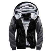Mens Blank Pattern European Bomber Mens Fleece Jacket Mens Jackets Coat