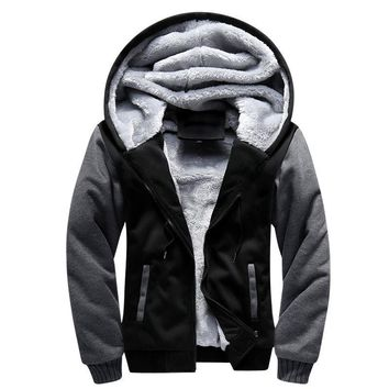 USA SIZE Men Winter Autumn Blank Pattern European Fashion Bomber Mens Vintage Thick Fleece Jacket Men Winter Jackets Coats