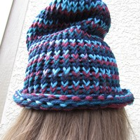 Knit Beanie - Blue Multi