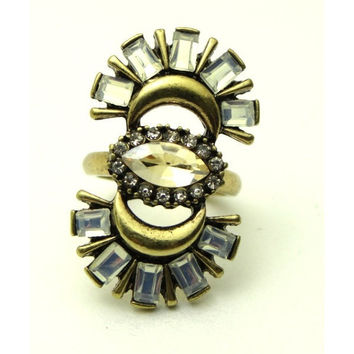 Contemporary Couture Cocktail Ring