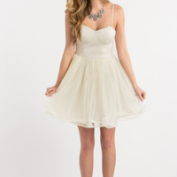 Juliette Ivory Bustier Tulle Dress