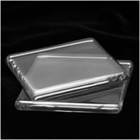Beadaholique 1-7/8-Inch Glass Jewelry Square Pendant Tiles, Large, Clear