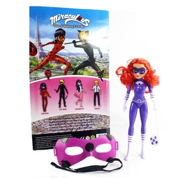 New 29CM Miraculous Ladybug and Cat Toy Lady Bug Doll with Light Music Mask Birthday Gifts Action Figure Toys for Children