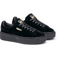 Fenty Rihanna Puma Creepers Mens Womens Velvet Shoes Puma Black