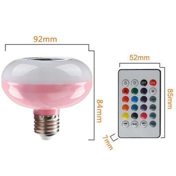 Smart LED Light Bulb Wireless Bluetooth Music Speaker remote control Table Lamp