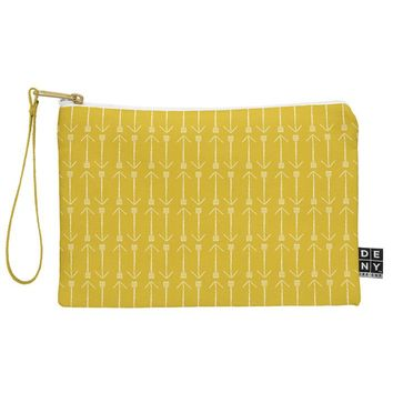 Allyson Johnson Chartreuse Arrows Pouch