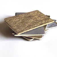 Gold / Silver MOLESKINE® Notebooks - Brand new glittering MOLESKINE® Cahier journals covered in beautifully textured gold and silver paper