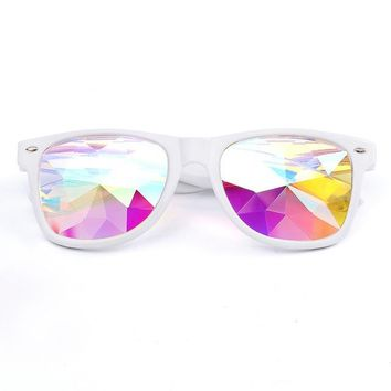 Diffracted Kaleidoscope Glasses 3D Rainbow Lens