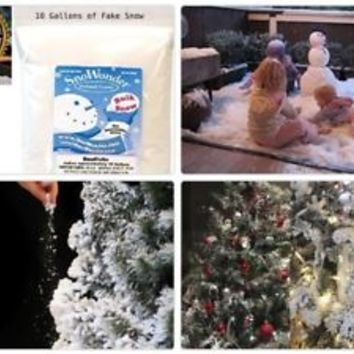 10 Gallons of Fake Snow Christmas Decorations SnoWonder Instant Snow Artificial