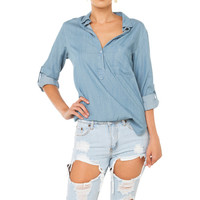 No Regrets Distressed Boyfriend Shorts - Light Denim
