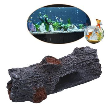 Polyresin Simulation Tree Aquarium Decoration Trunk Wood Fish Tank Ornament