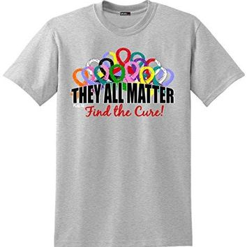 Fight Like a Girl They All Matter Cancer Awareness TShirt