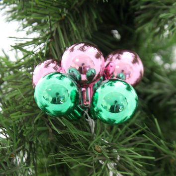 Shiny Brite Christmas Confetti Clusters Glass Ornament