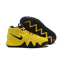 Nike Kyrie 4 Yellow/Black Sneaker Shoe