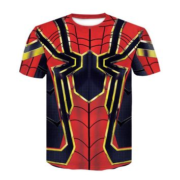 The Avengers Infinity War Iron Spiderman 3D Printed T shirts Superhero Spider Man Compression T-Shirt Fitness Crossfit Tops