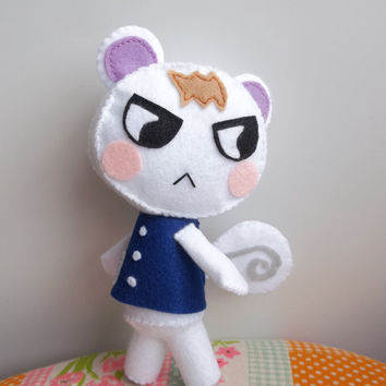 Marshal from Animal Crossing New Leaf felt stuffed animal