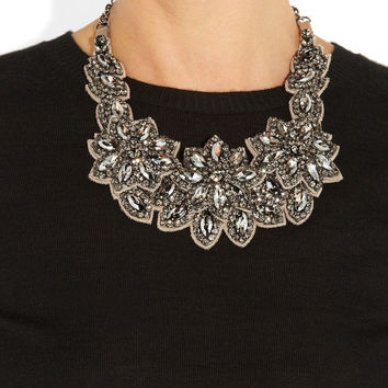Valentino | Floral glass crystal necklace | NET-A-PORTER.COM