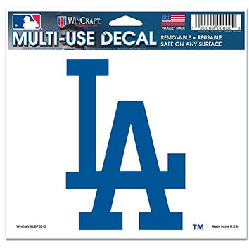 "Los Angeles Dodgers Removable 5""x6"" Car Decal"