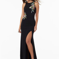 Mori Lee 99008 Floral Appliquéd Formal Prom Dress