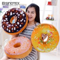 Creative Super Soft Pillow Simulation Chocolate Donut Cushion Large Office Nap Tool For Girls 1 PCS/Lot