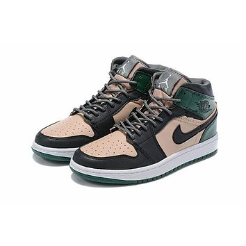 Air Jordan 1 - Black/Green/Pink