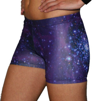 Galaxy Spandex Shorts Spankies Bloomers stars gymnastics volleyball dance cheer