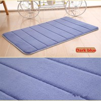 2017 New 1pcs Memory Foam Bath Mats Bathroom Horizontal Stripes Rug Non-slip Bath Mats 40x60cm Bathroom Rug Carpet