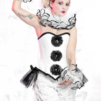 Pierrot Bloomers harlequin clown costume