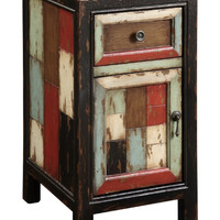 Colorful Antique Small Cabinet