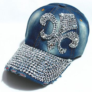 Ladies Denim Football Hat