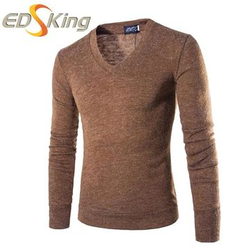2017 Mens Sweaters And Pullovers V-Neck Mans Sweater Male Long Dresses Turtleneck Knitting Patterns Winter Brand-Clothing
