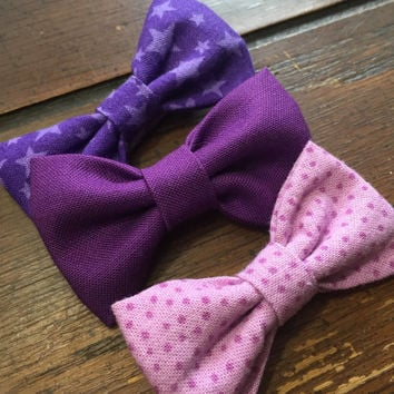 Shades of Purple Hair Bows / Clips
